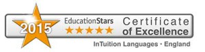 2015-EducationStars-Certificate-of-Excellence-InTuition-Langauges-England-400px