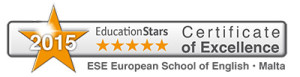 Certificate of Excellence 2015 ESE European School of English in Malta