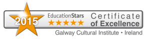 Certificate of Excellence 2015 Galway Cultural Institute Ireland