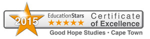 Certificate of Excellence 2015 Good Hope Studies Cape Town